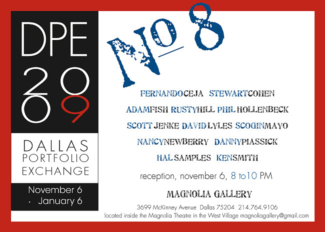 Dallas Portfolio Exchange 2009 Invite Photography By Adam Fish Fotography at www.FishFotography.com