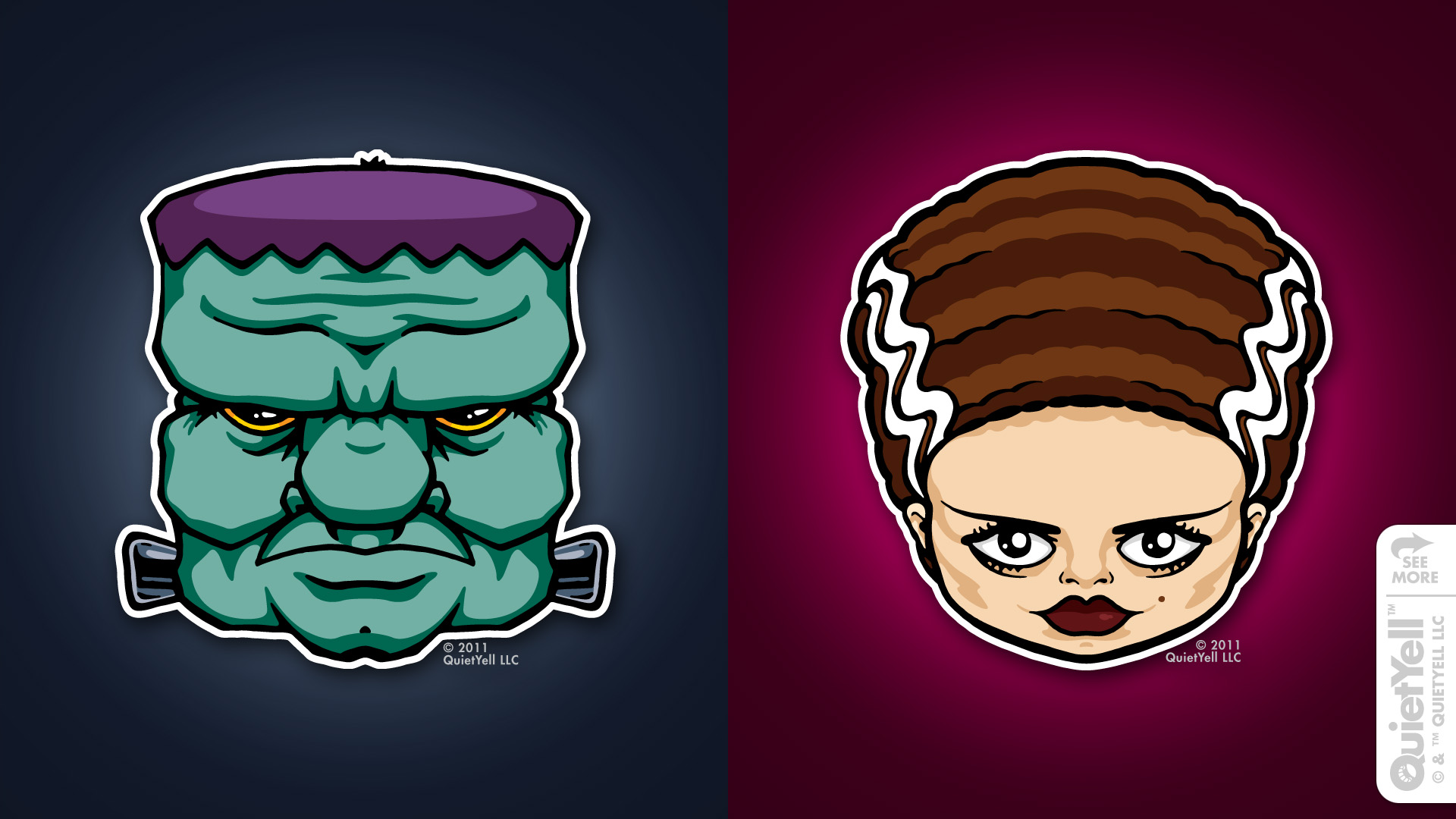 quietyell_illustration_full_monsterheads2011_frankensteinbride_01