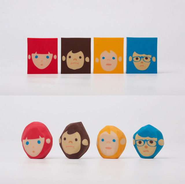 Rubber Barber Erasers by Chen Lu Wei for Megawing