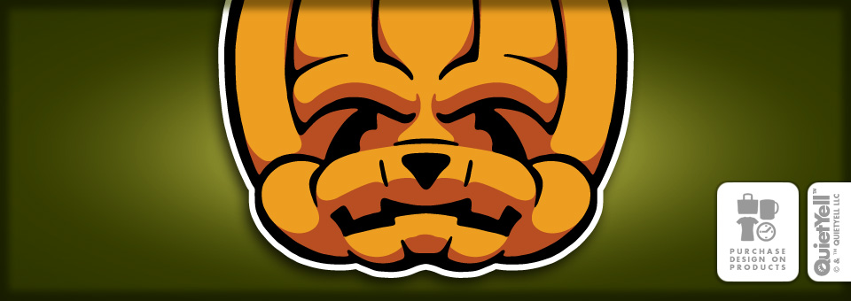 QuietYell™ Featured Product Design: The Monsters, Jack-O-Lantern 01 - Visit www.QuietYell.com and Find QuietYell on CafePress & Zazzle