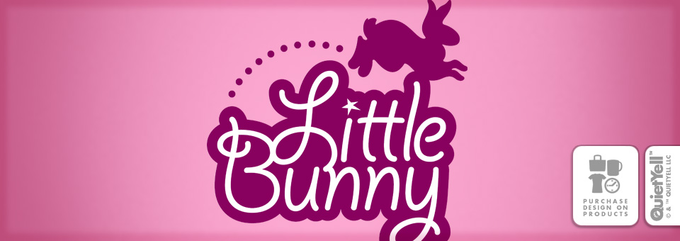 QuietYell™ Featured Product Design: Little Bunny 01 - Visit www.QuietYell.com and Find QuietYell on CafePress & Zazzle