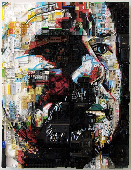 Recycled Assemblage Portrait Series by Zac Freeman