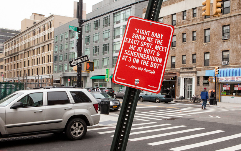 Rap Quotes as Street Signs in New York City by Jay Shells