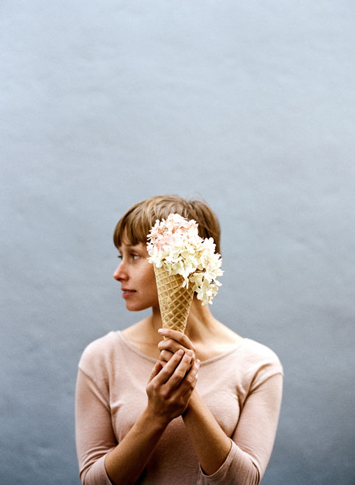 Ice Cream and Flowers For Kinsfolk Magazine by Parker Fitzgerald and Amy Merrick