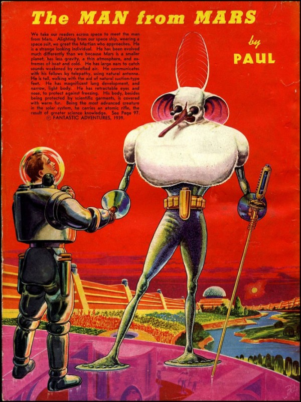 Vintage Predictions of Life on Other Planets (1940) by Frank R. Paul