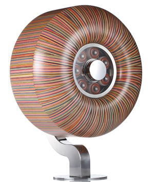 Used Skateboard Decks Recycled as Art (Spitfire Wheel) by Gary Haroshi