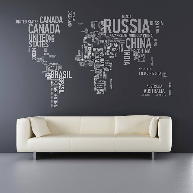 A Different World Vinyl Wall Stickers via The Fancy