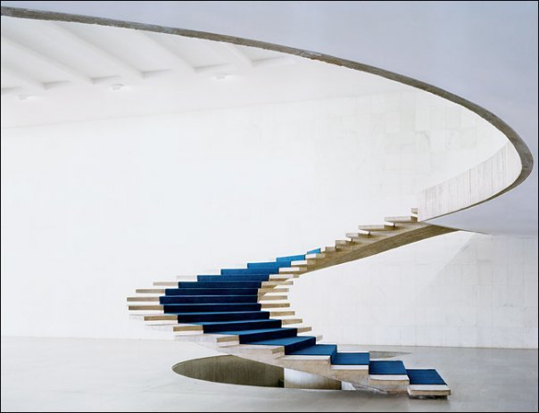 Ministry of Foreign Affairs building in Brazilia 1962 by Oscar Niemeyer
