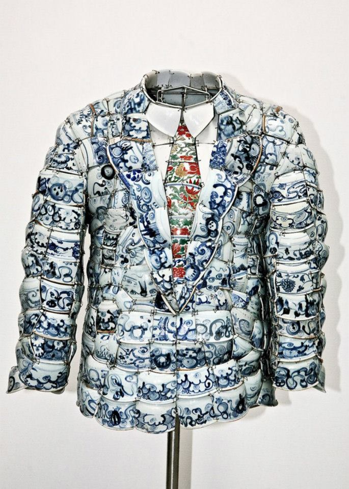 Blue and White Chinese Porcelain Suit  by Li Xiaofeng