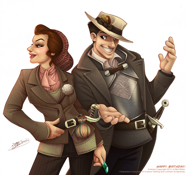 Colored Illustrations and Characters by Mel Miller: http://www.melmillerart.com/