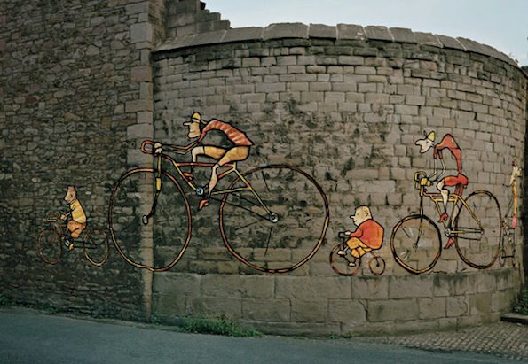 Bicycle Rider Graffiti