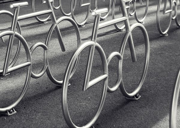 Bike-Shaped Bike Racks by MAD Arkiteker