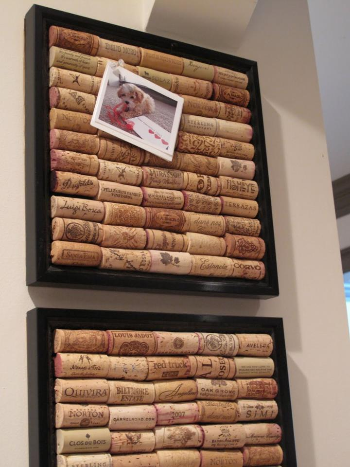 Pinboard Made of Corks