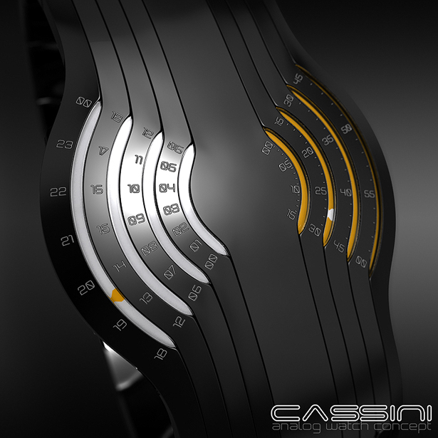 Cassini Analog Watch Concept by Samuel Jerichow