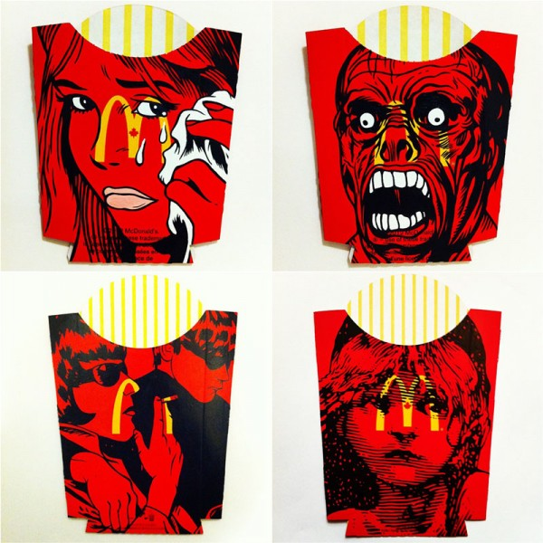 McDonald's French Fry Packages by Ben Frost