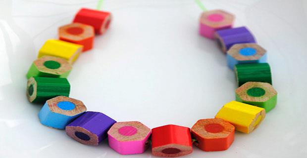 Creative Recycling Ideas (Colored Pencil Bracelet)