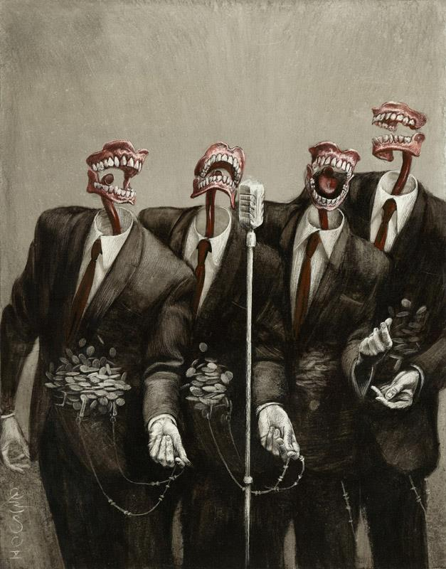 A Cappella Mouths by Santiago Caruso