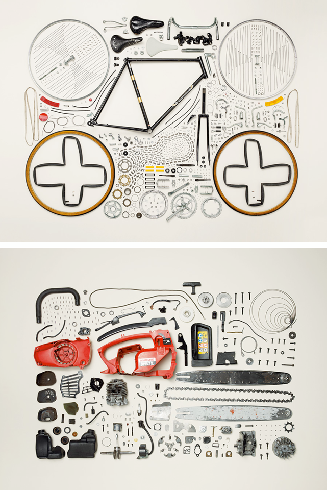 50 Disassembled Objects by Todd McLellan