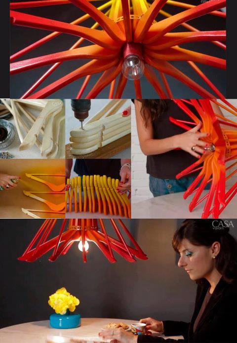 DIY Coat Hanger Lamp