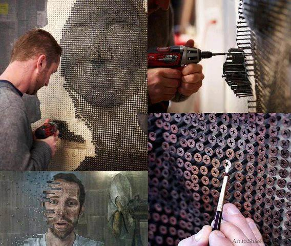 Amazing Artwork Using Screws