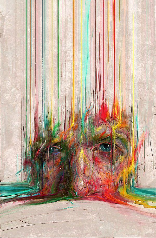 Sam Spratt Dripping Man Painting, www.SamSpratt.com