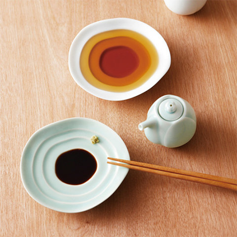 Terraced Dipping Dishes (Sushi, Soy Sauce, Wasabi, Ginger & Vinegar Sauce)