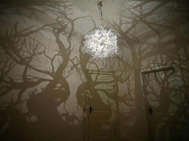 """Forms in Nature"" Light sculpture by Hilden Diaz"