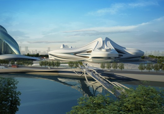 Changsha Meixihu International Culture and Art Centre / Zaha Hadid Architects