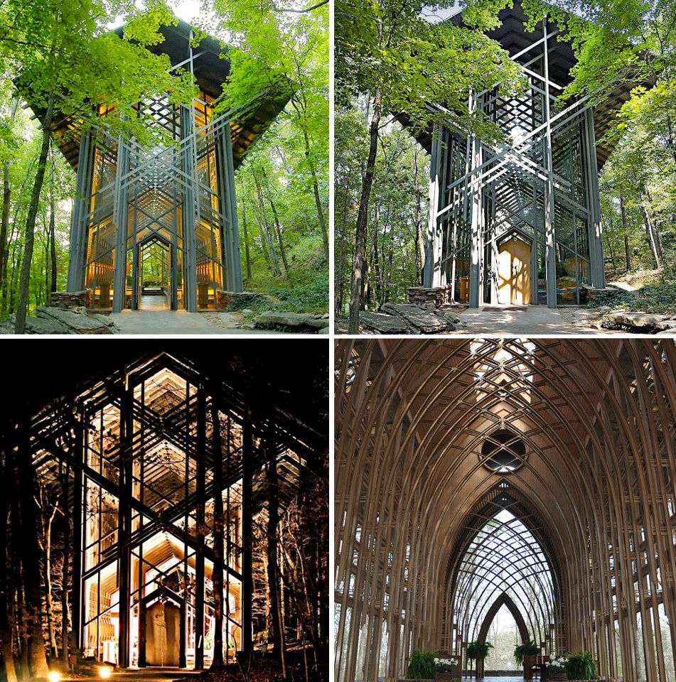 Thorncrown Chapel Architecture via Fubiz