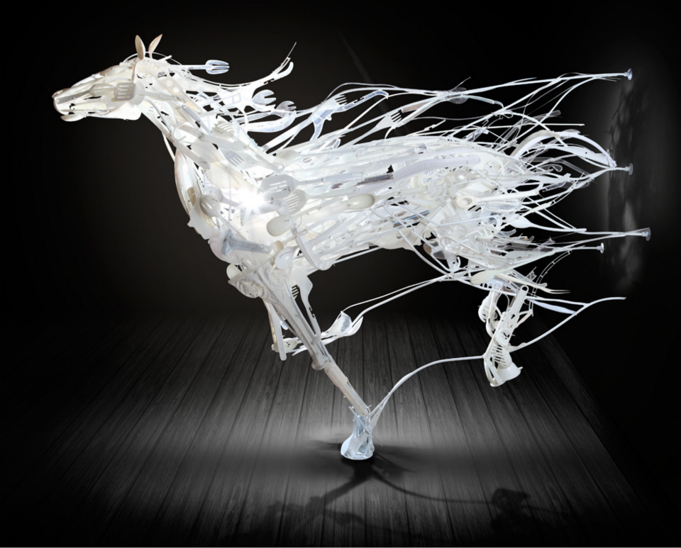 Sayaka Ganz Graceful Sculptures Made from Recycled Plastics