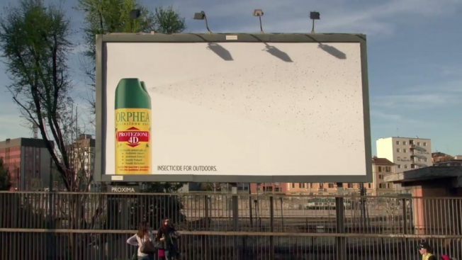 Bug Spray Traps Thousands of Insects on Gross, Sticky Billboard
