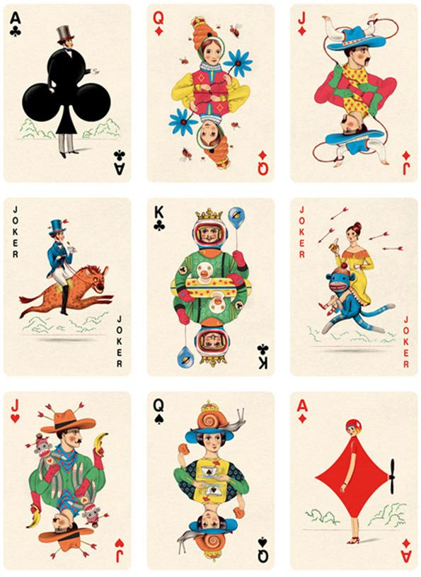 Deck of Cards by French Illustrator Jonathan Burton
