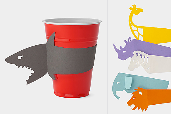 Cups With Bite, Paper Slip-on Sleeves by Akira Yoshimura