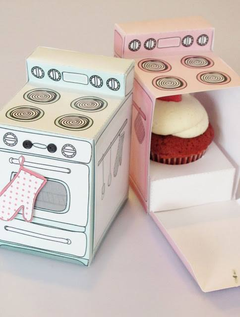 Hot Baked Cupcake Boxes