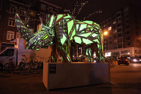 Projection Mapped Sculptures by Sober Industries and Studio Rewind