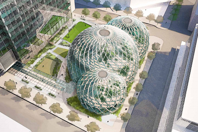 Amazon's Seattle Campus Greenhouse Offices by TheVerge.com