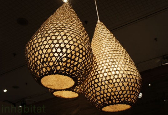 Tucker Robbins Transforms Indonesian Fishing Baskets into Beautiful Pendant Lamps