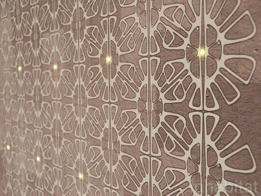 LED-Embedded Wallpaper by Mestyle