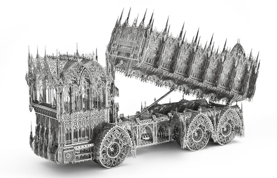 Laser-cut Gothic Sculptures by Wim Delvoye