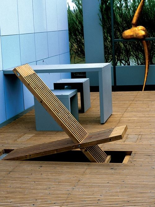 Folding Chair Hidden in the Floor