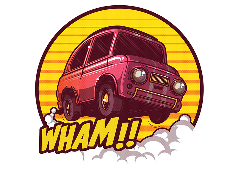 WHAM!! Car Illustration by Musketon