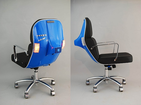 Vespa Scooters as Office Chairs