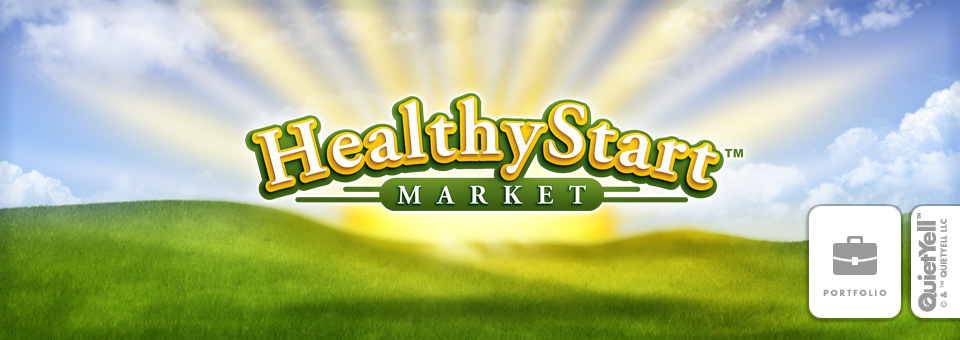 CDS Vending™ Micro-Market Brand: Healthy Start Market™ Logo & Illustrated Background