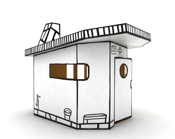 Villa Julia Cartoonish Cardboard Playhouse by Javier Mariscal