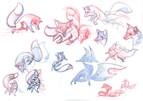 Firefox OS Identity Sketches by Martijn Rijven of Amsterdam-Based Bolt Graphics