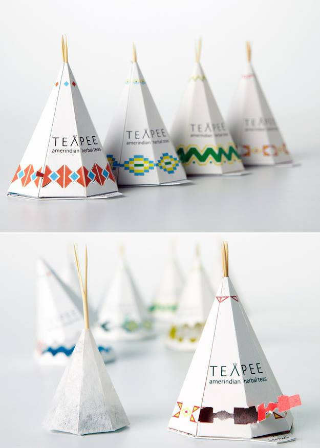 Native American Tipi Inspired Teapee Tea Packaging