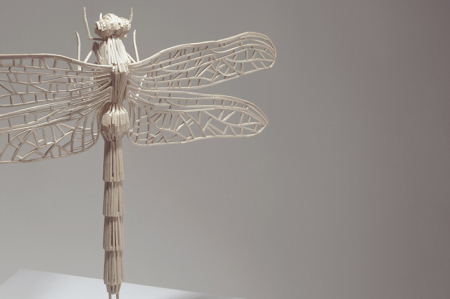 Art of Flying Insects Made of Matchsticks by Kyle Bean