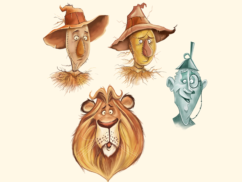 Wizard of Oz Characters by Dave Mottram