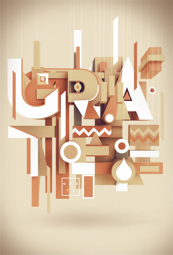 3D Typography by Peter Tarka