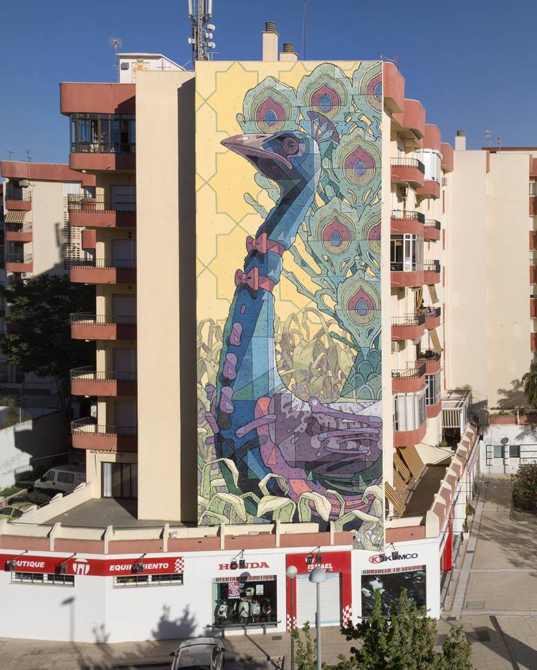 Aryz Mural In Sanlúcar de Barrameda, Spain